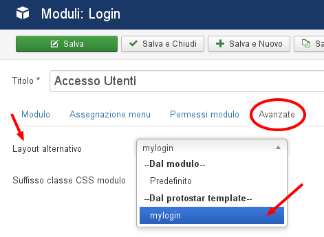 Layout alternativi di joomla voci di menu e moduli for Protostar template layout