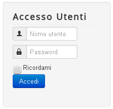 Layout alternativo modulo Login