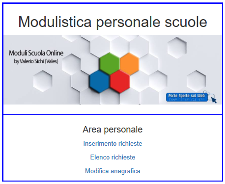 vales area personale