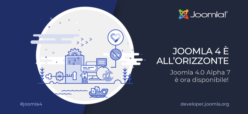 Joomla 4 Alpha 7 disponibile