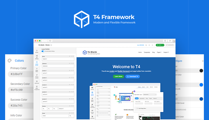 t4 joomla template framework preview released