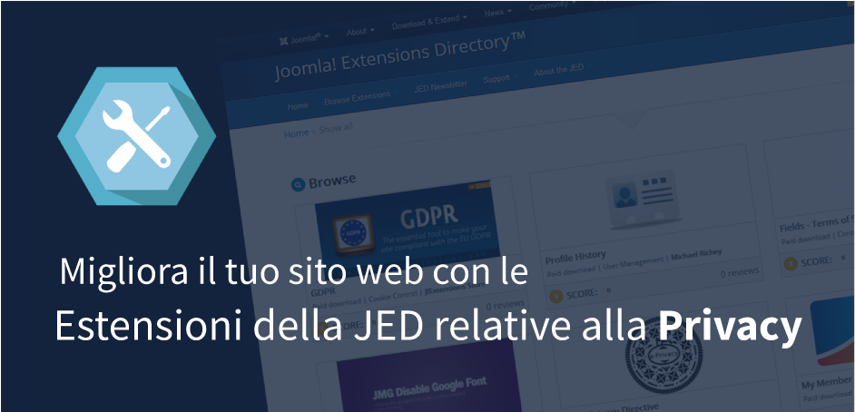 EU e-Privacy Directive - gestione cookie in Joomla